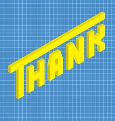 Thank isometric vector
