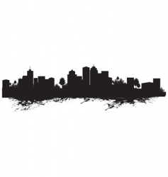 Splash cityscape vector
