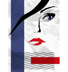 Abstract girls face vector