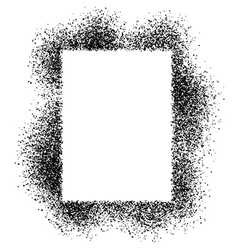 Spray effect square frame vector