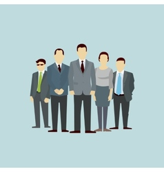 Teamwork concept of group people flat vector