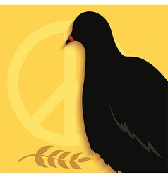 Pigeon peace sign vector