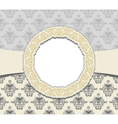 Vintage card with floral ornament design damask vector