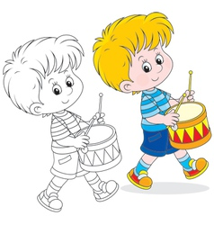 Little drummer vector