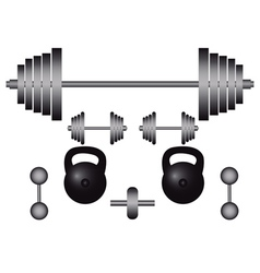 Subjects to engage in bodybuilding vector