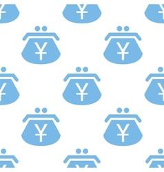 Yen purse seamless pattern vector