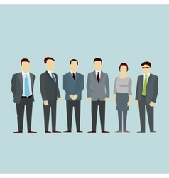 Business men team concept of group people vector