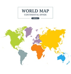 World map continental divide vector