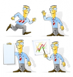 Set of cartoon businessman vector