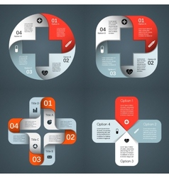 Templates set for your medical project vector