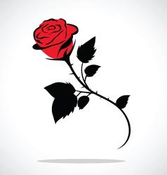 Valentine rose vector