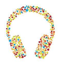 Headphones consist of dots vector
