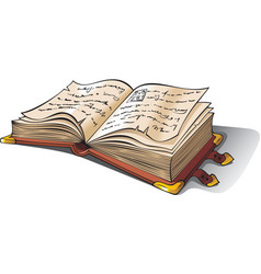Ancient opened book vector