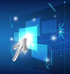 Cursor click button on screen vector