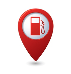 Gas station red map pointer vector