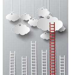 Cloud and stair vector