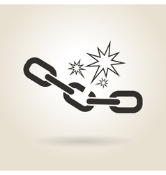 Icon broken chain vector