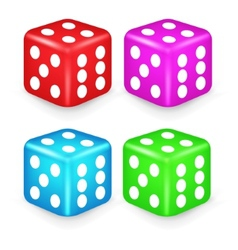 Color box dice 3d vector