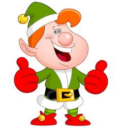 Thumbs up elf vector