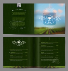 Template booklet design - wine list or catalog vector