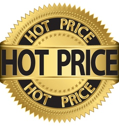 Hot price gold label vector