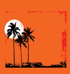 Tropical grunge vector