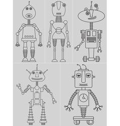 Set cute robots vector