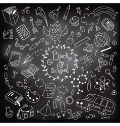 Back to school drawing with chalk vector