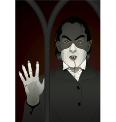 Vampire at the window vector