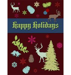 Holiday print vector