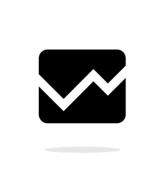 Line chart icon on white background vector