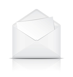 White open envelope with paper vector