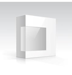 Blank box with transparent window vector