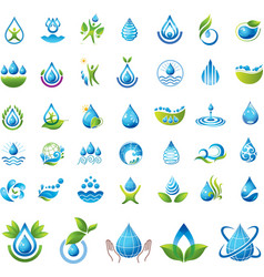 Set of water icons vector