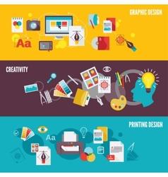 Graphic design banner set vector