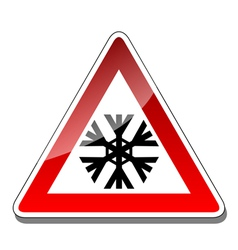 A warning sign vector