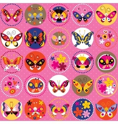 Butterflies nature pattern 5 vector