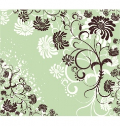 floral decoration flowers background vector