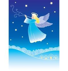 Angel greeting card vector