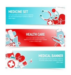 Medical health care banners vector