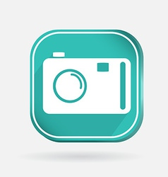 Square icon photo camera vector
