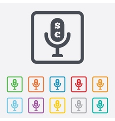 Microphone icon speaker symbol paid music sign vector