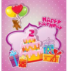 Happy birthday 2year 380 vector