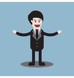 Businessman welcome standing vector