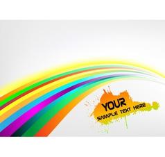 Abstract rainbow arrow banner vector
