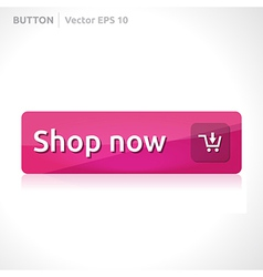 Shop now button template vector
