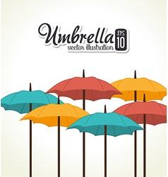 Umbrella design over white background vector
