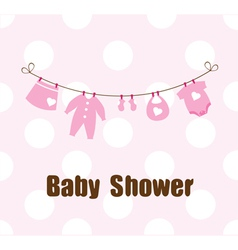 Baby clothes vector