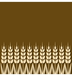 Ripe wheat ears background vector