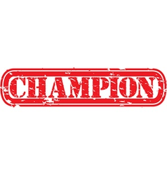 Champion stamp vector